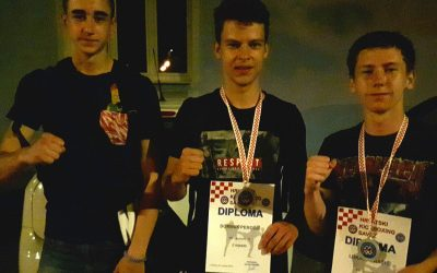 Perošić Dominik izvrstan na Hrvatskom prvenstvu u full contactu, Tigru dva srebra